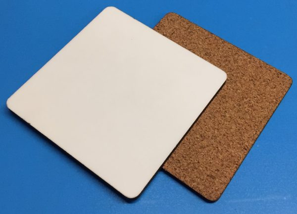 90mm Square Cork Backed Coaster