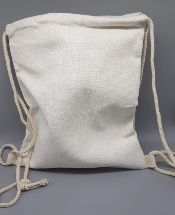 SubliLinen Drawstring Bag