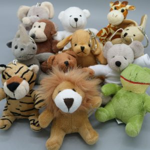 Animal Plush Keyrings