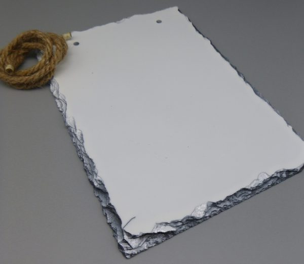 Slate Portrait with Rope