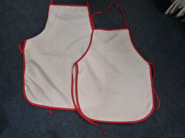 Red Trim Child Aprons